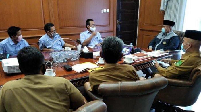 Bupati Kukar Edi Damansyah Bersua dengan Kepala BPBAT Kalimantan Selatan, Audensi Budidaya Perikanan