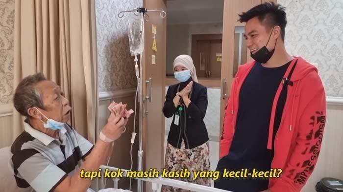 Terbaring Lemas, Pak Ogah Semringah Dijenguk Baim Wong, Langsung Minta Uang ke Suami Paula