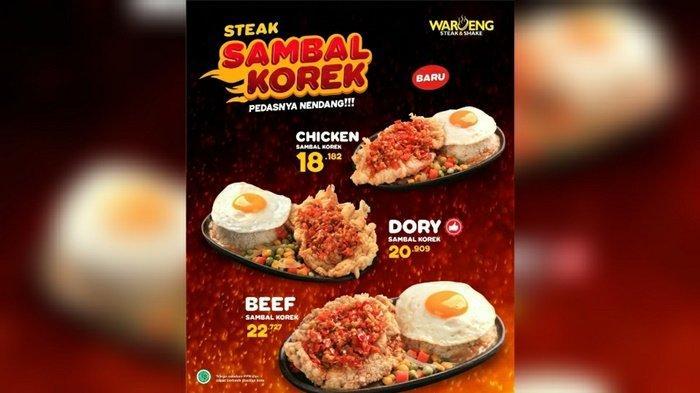 Menu terbaru Waroeng Steak & Shake yang terdiri dari tiga varian, konon pedasnya sangat menggugah selera makan.