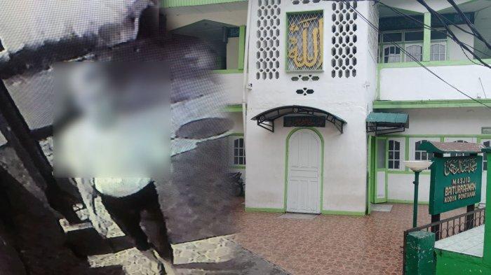 Keterlaluan! Masjid Baiturrahman Dilempar Kotoran Manusia, Aksi Pelaku Terekam CCTV