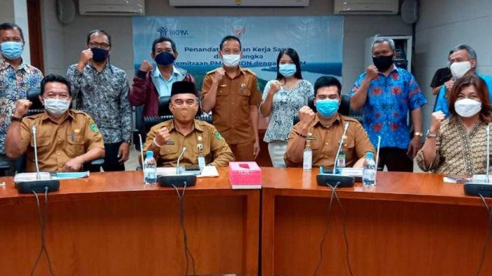 Pemkab Kukar Tanda Tangan Kerjasama Kemitraan Antar Perusahaan, Disaksikan Presiden Jokowi