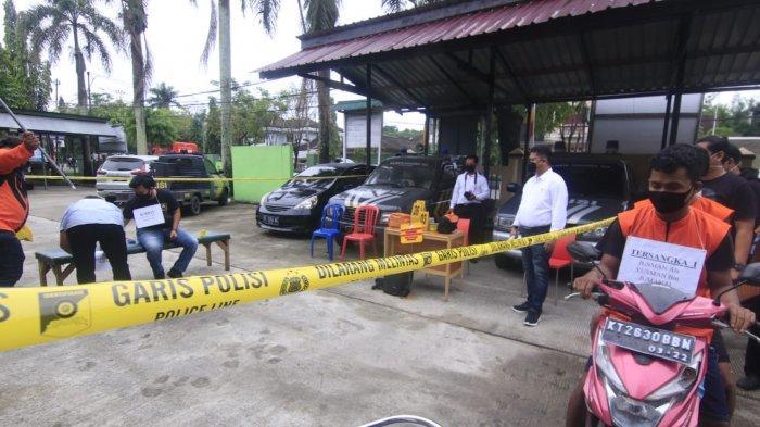 Rekontruksi Kasus Perampasan Terhadap Gusti Dwi Prasojo, Hadirkan Dua Tersangka