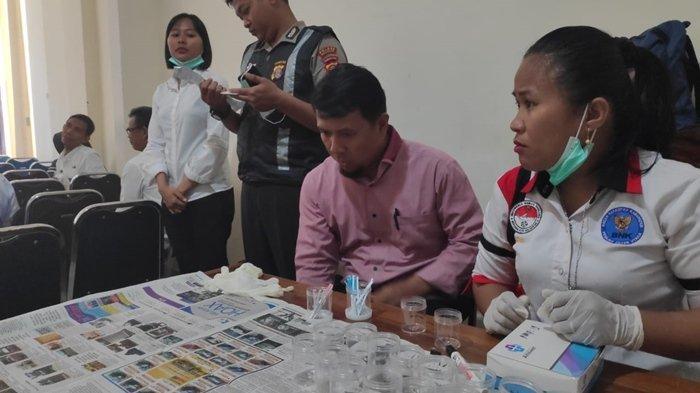 Tes Urine untuk Perpanjangan Kontrak THL Pemkab PPU, Dua Staf di Penajam Paser Utara Positif Narkoba