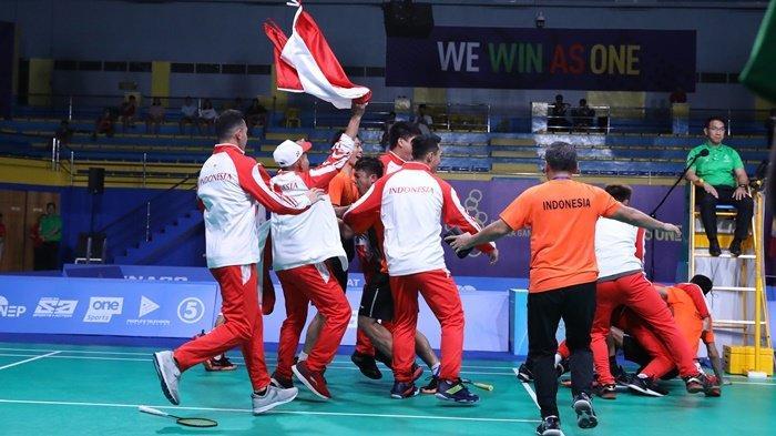 Kalahkan Malaysia, Indonesia Pertahankan Tradisi Medali Emas Beregu Putra Badminton SEA Games 2019