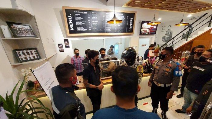 Polsek Balikpapan Selatan Lakukan Penertiban, Banyak Kafe Langgar Jam Malam dan Prokes
