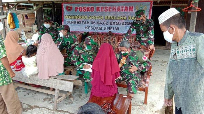 Tim Kesahatan TNI-AD Dirikan Posko Kesehatan di Kabupaten Hulu Sungai Tengah Kalimantan Selatan