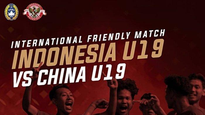BERLANGSUNG Live Streaming TV Online Timnas Indonesia U-19 vs China, Tayang Gratis di Mola TV & TVRI
