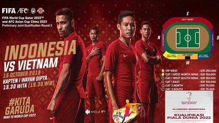 SKOR 0-0 Berlangsung Live Streaming Timnas Indonesia vs Vietnam TV Online Mola TV dan TVRI