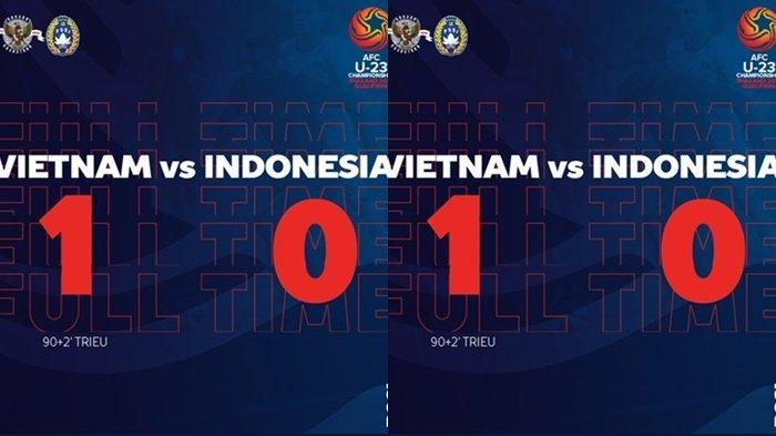Klasemen Grup K Kualifikasi Piala Asia U-23 2020 Setelah Timnas U-23 Indonesia Kalah dari Vietnam