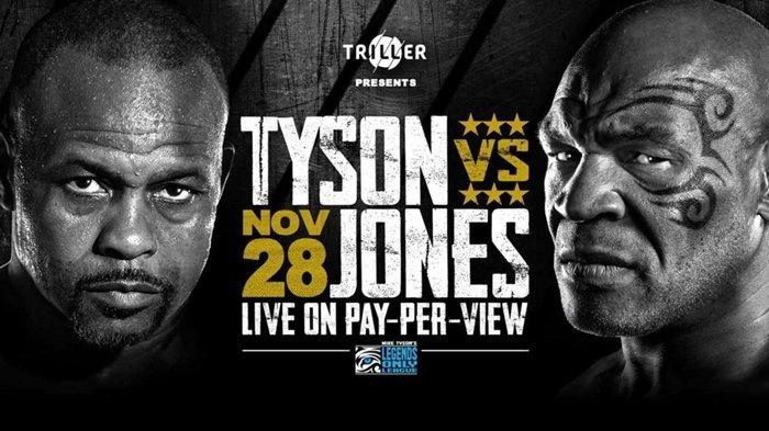 LENGKAP Link Live Streaming dan Jadwal Tanding Mike Tyson vs Roy Jones, Minggu 29 November 2020