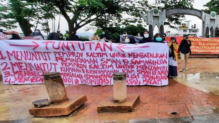 Mahasiswa Sampaikan 4 Tuntutan ke Pemprov Kaltim soal SMAN 10 Samarinda