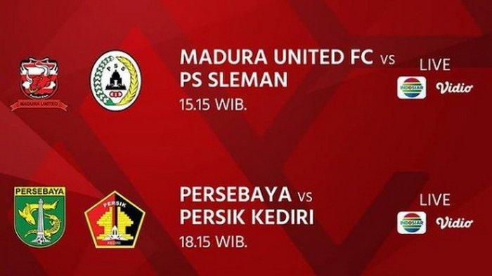 SERU! TONTON Link Live Streaming Indosiar Piala Menpora 2021, Cek Skor Sementara Persebaya vs Persik