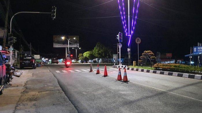 Polantas Pasang Traffic Cone di Lokasi Laka Maut Jalan Bhayangkara Bontang, Ini Tujuannya