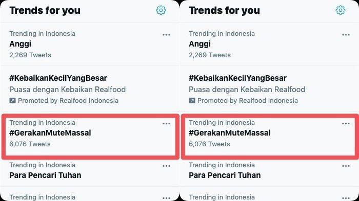 Trending #GerakanMuteMassal