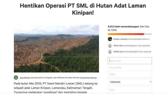Trending Hutan Terakhir Kalimantan, Fakta: dari Ketua Adat Laman Kinipan Ditangkap hingga Ada Petisi