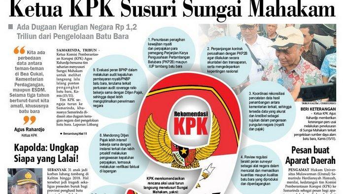 Ketua KPK Susuri Sungai Mahakam, Cium Ada Kerugian Negara Rp 1,2 Triliun dari Pengelolaan Batu Bara