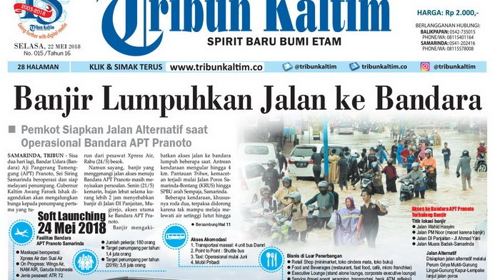 Banjir Lumpuhkan Jalan ke Bandara APT Pranoto