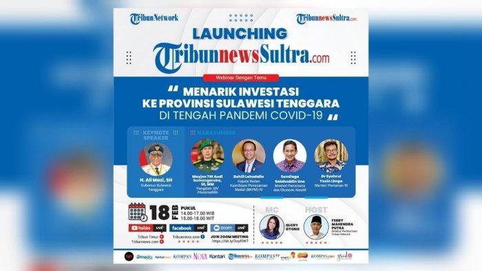 Tribun Network Luncurkan TribunnewsSultra.com Portal ke-51, Gelar Seminar Trik Menarik Investasi