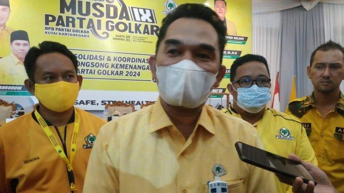 Hasanuddin Mas'ud saat setelah terpilih menjadi ketua di Musda Partai Golkar Kukar, TRIBUNKALTIM.CO, ARIS JONI