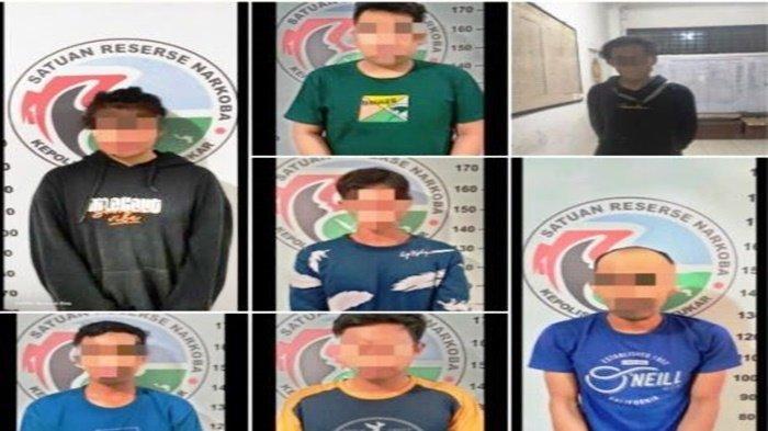 Polres Kukar Ringkus 7 Tersangka Narkoba di 5 Wilayah Berbeda