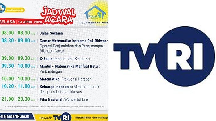 LIVE STREAMING dan Jadwal Belajar Dari Rumah, Selasa 14 Februari 2020, Mulai Pukul 08.00 di TVRI