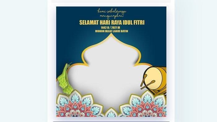 LENGKAP Template Kartu Ucapan Selamat idul Fitri 2021, Background dan Link Twibbon Idul Fitri 1442 H