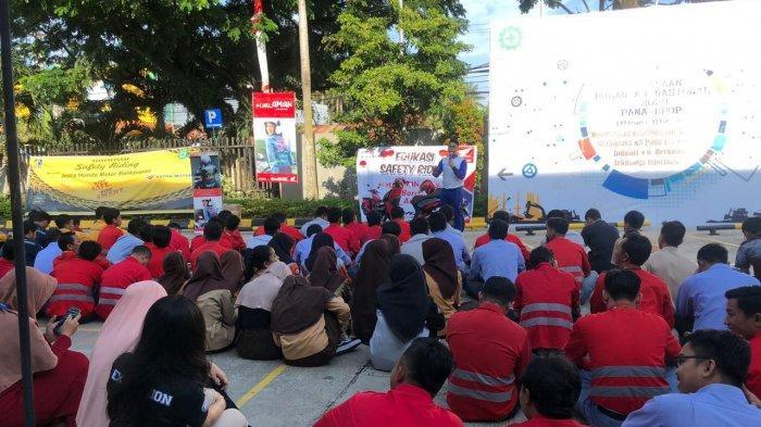 Astra Motor Balikpapan Sosialisasi Safety Riding di PT Pama Persada, Ada 150 Karyawan Berkumpul