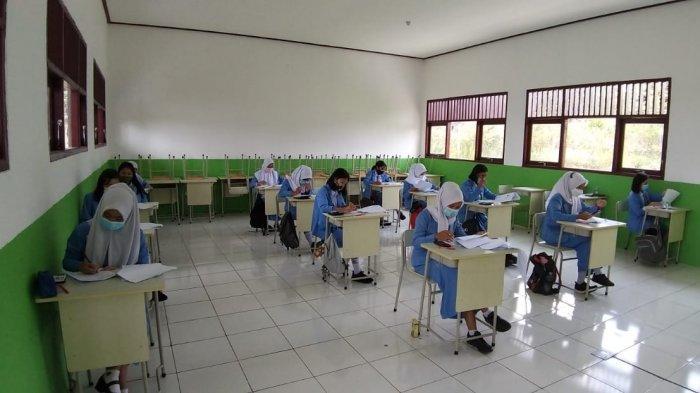 Suasana pelaksanaan simulasi ujian kompetisi keahlian (UKK) di SMK Negeri 2 Sendawar, Kabupaten Kutai Barat.TRIBUNKALTIM.CO, ZAINUL