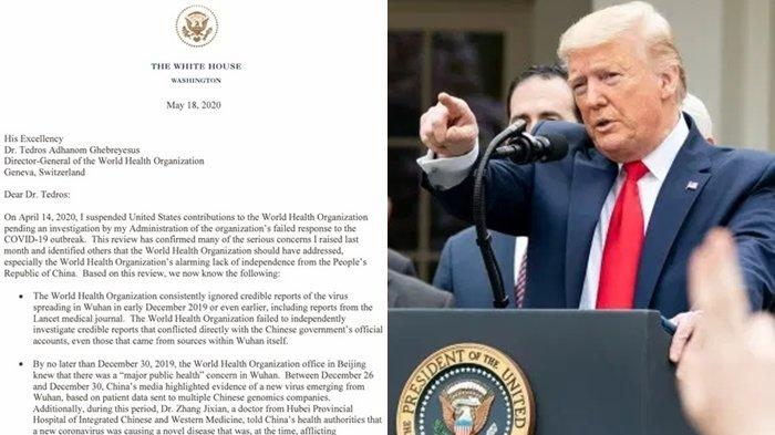 Serangan Baru Amerika Serikat ke China soal Virus Corona, Donald Trump Kirim Ancaman ke Petinggi WHO
