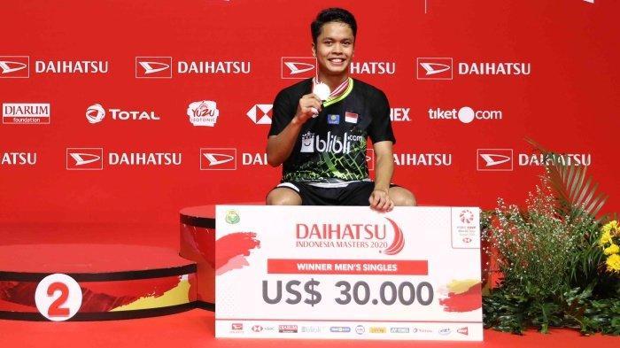 Update Rangking BWF Juara Indonesia Masters 2020 Anthony Ginting Masuk 5 Besar, Rangking Terbaiknya