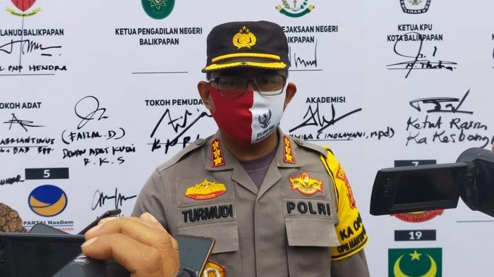 Kapolresta Balikpapan, Kombes Pol Turmudi saat ditemui awak media selepas kegiatan Deklarasi Damai 2020, Kamis (26/11). TRIBUNKALTIM.CO, DWI ARDIANTO