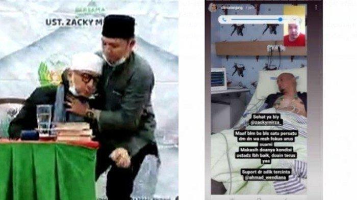 Kondisi Terkini Ustadz Zacky Mirza Usai Tumbang Saat Isi Ceramah, Kini Banyak Alat Medis di Tubuhnya