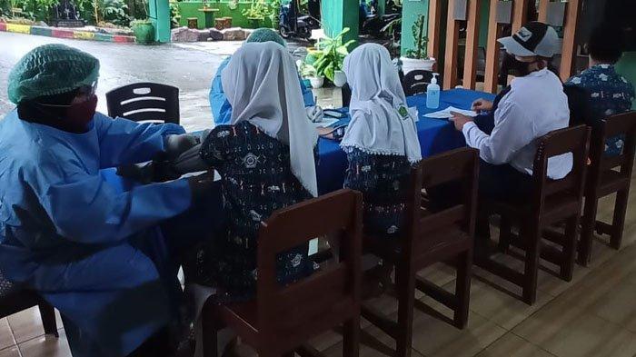 Sudah Divaksin, Siswa-siswi MTs Negeri 1 Balikpapan Siap Mulai Pembelajaran Tatap Muka