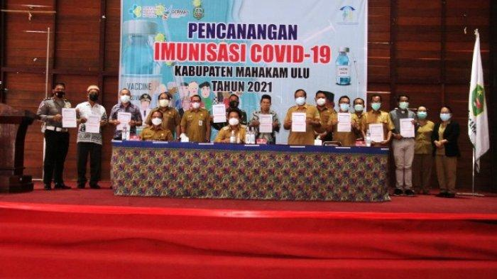 Terima 1.840 Dosis Vaksin, Tahap Pertama Diprioritaskan untuk Tenaga Kesehatan se-Kabupaten Mahulu