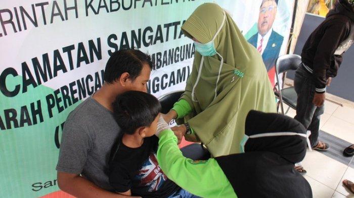 Kembali Digulirkan di Kutim, Sudah 18.994 Anak Divaksin Difteri di Lima Kecamatan