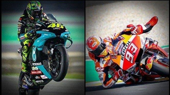Jadwal MotoGP 2021 Live Trans7, Hasil FP1 GP Jerman Marquez - Rossi Bagai Bumi & Langit, Quartararo?