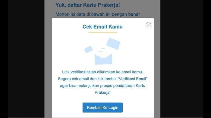 Verifikasi Email Prakerja