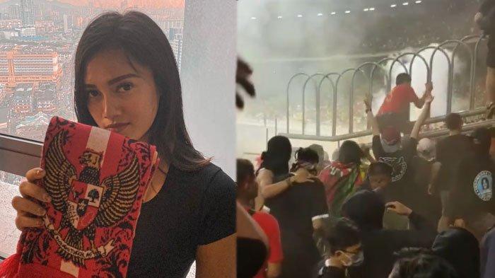 VIDEO Malaysia vs Timnas Indonesia Rusuh, Model Jessie Amalia Buktikan Suporter Lawan Lempar Flare