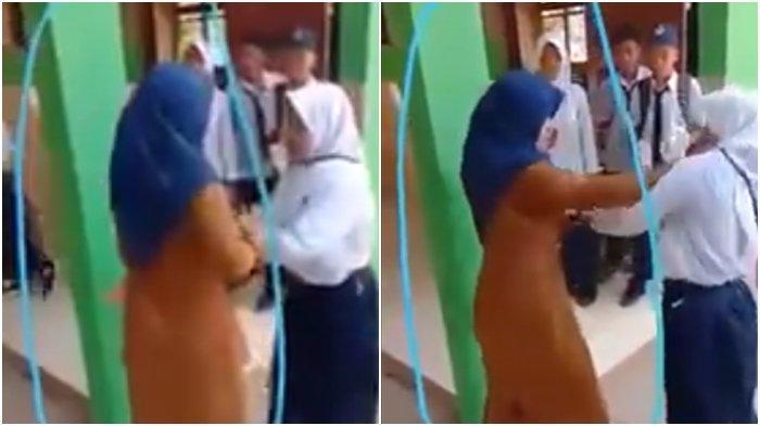 VIDEO Viral di Facebook! Gara-gara HP Disita, Siswi SMP Berkelahi dengan Gurunya Sampai Pingsan