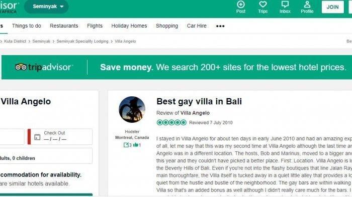 Villa di Bali Promosi Lokasi Khusus Kaum Pria Homo, Diduga Dikontrak Bule Belanda