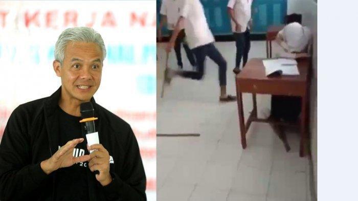 Viral di Medsos Video 3 Siswa SMP Pukuli Siswi, Korban Hanya Menangis, Begini Reaksi Ganjar Pranowo