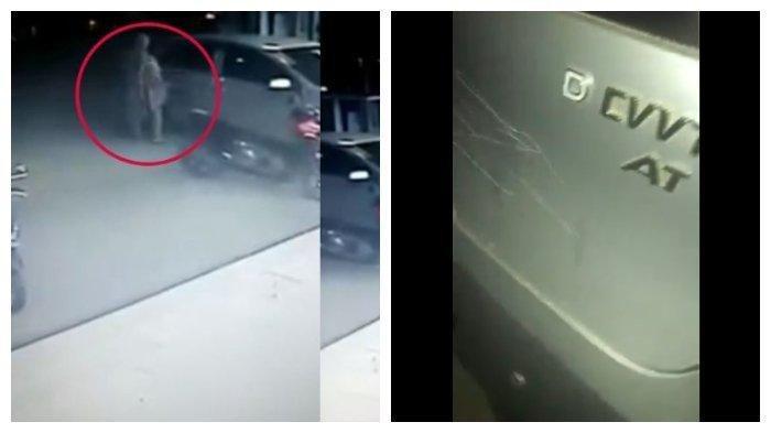 Viral, Ibu-ibu Tertangkap CCTV Gores Mobil di Parkiran Supermarket Samarinda