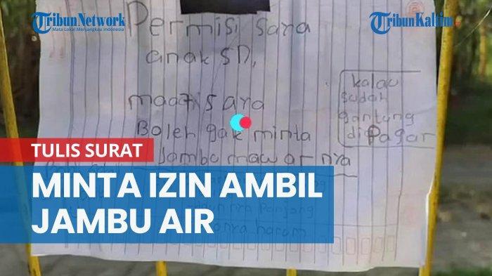 Bocah SD Minta Jambu ke Pemiliknya Lewat Selembar Kertas Viral di Medsos, Begini Reaksi Netizen