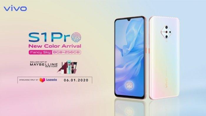 Kelahiran Baru Smartphone Vivo S1 Pro Fancy Sky, Pre Order 6 Januari, Memori Penyimpanan Lebih Besar