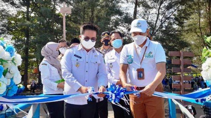 PLN Peduli Gelontorkan Bantuan Senilai Rp 560 Juta, Wabup Resmikan Fasilitas Wisata Pantai Ambalat