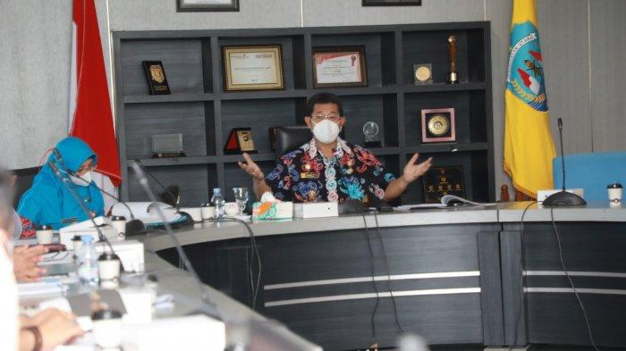 Wakil Gubernur Kaltara Yansen Tipa Padan memimpin rapat  teknis pembahasan potensi dan prospek ekspor hasil pertanian Kaltara yang diinisiasi Dinas Pertanian dan Ketahanan Pangan Kaltara