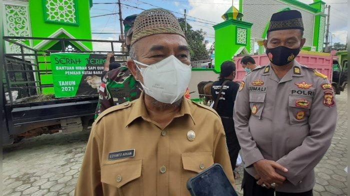 Wabup Kubar: Semua yang ke Masjid dan Petugas Kurban Wajib Pakai Masker