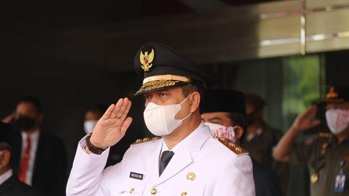 Wagub Kaltim Hadi Mulyadi Jadi Inspektur Upacara Penurunan Bendera