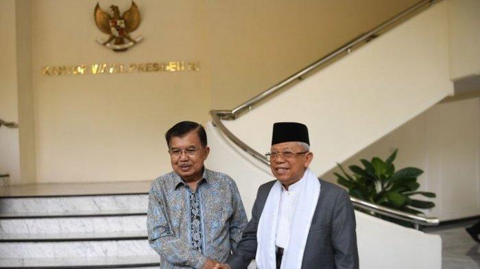 Bukan Asal, Pintu Masuk Maruf Amin saat Temui Wapres JK Tegaskan Statusnya di Pilpres 2019