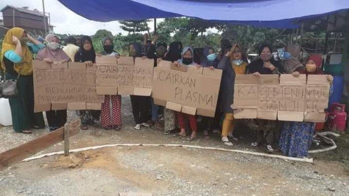 Warga di Desa Sedulang Kukar Demo ke Jalan, Tuntut Perusahaan Bayar SHU selama 6 Bulan